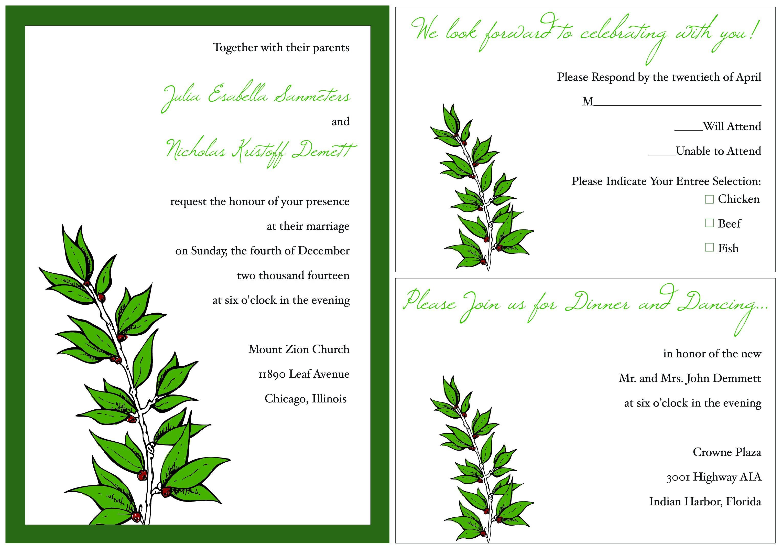 Free Invitation Templates Card