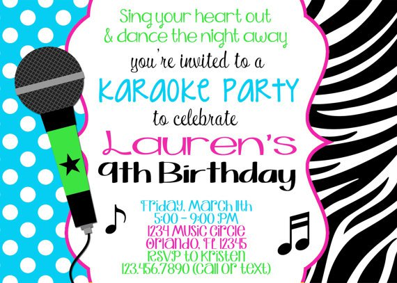 Free Karaoke Party Invitation Templates