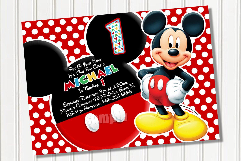 Free Mickey Mouse Evites