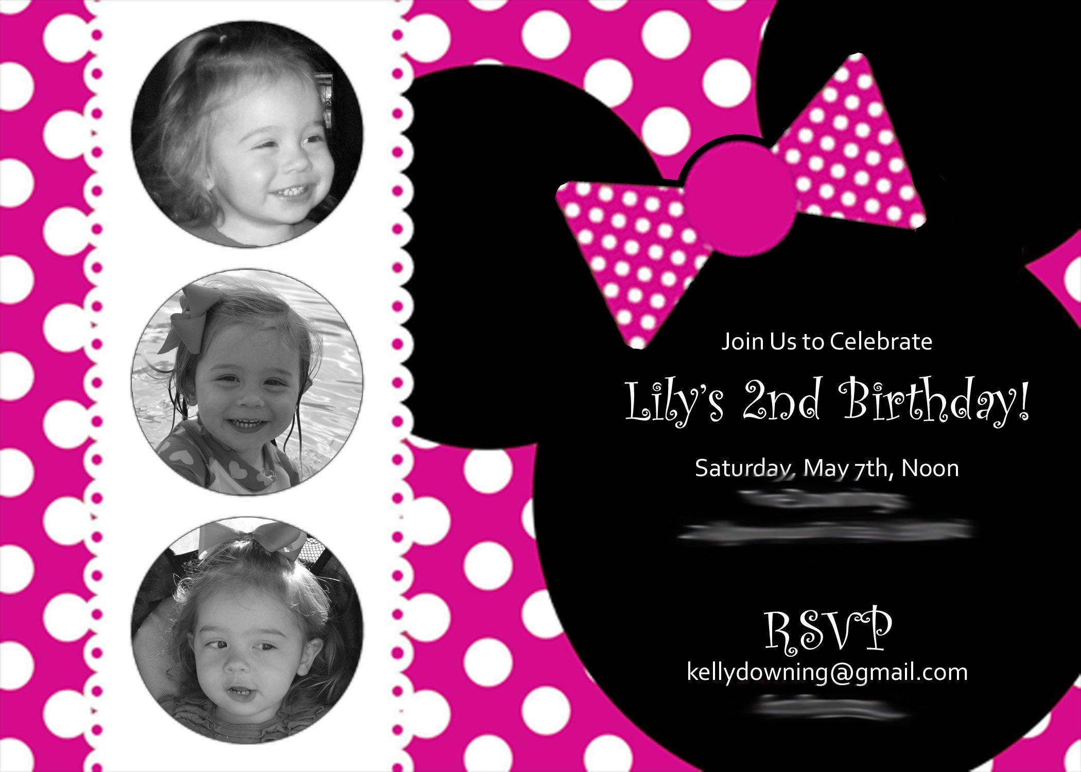 Free Minnie Mouse Birthday Invitations