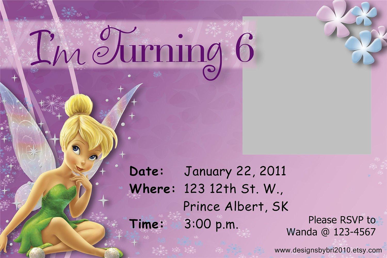 Free Online Tinkerbell Birthday Invitations