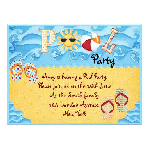 Free Personalized Pool Party Invitations