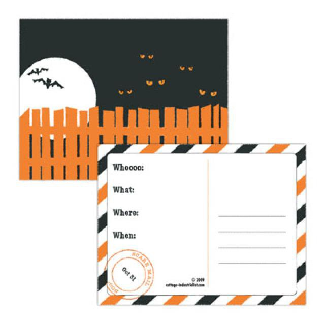 Free Print Out Halloween Party Invitations