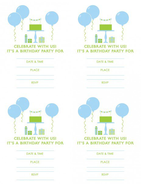 Free Printable 1st Birthday Invitations Boy
