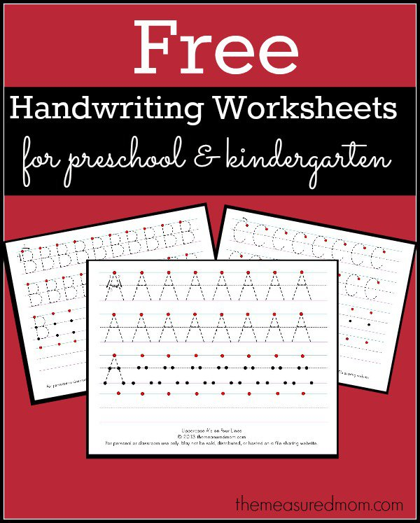 Free Printable Alphabet Handwriting Worksheets