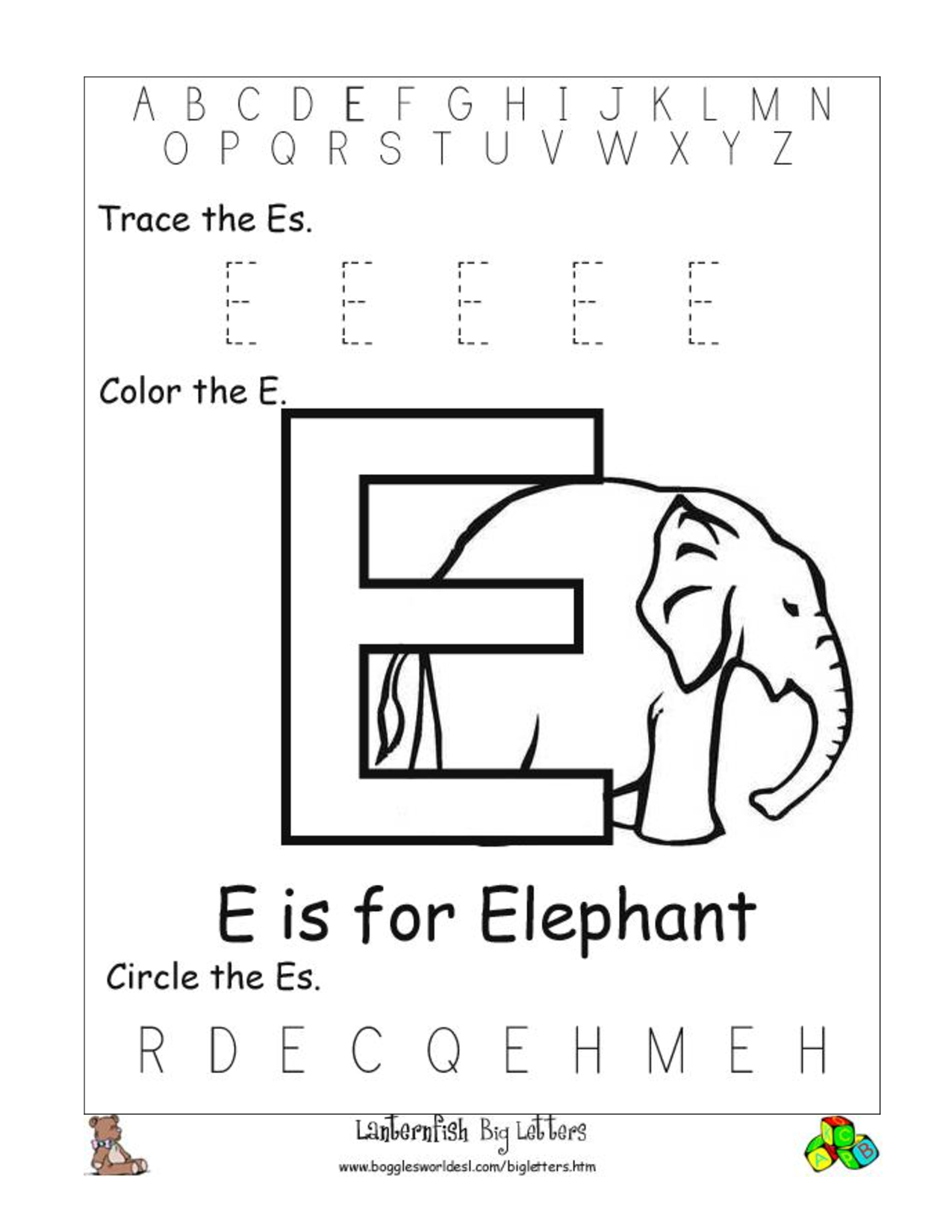 letter e worksheets free printable alphabet letter worksheets 3863
