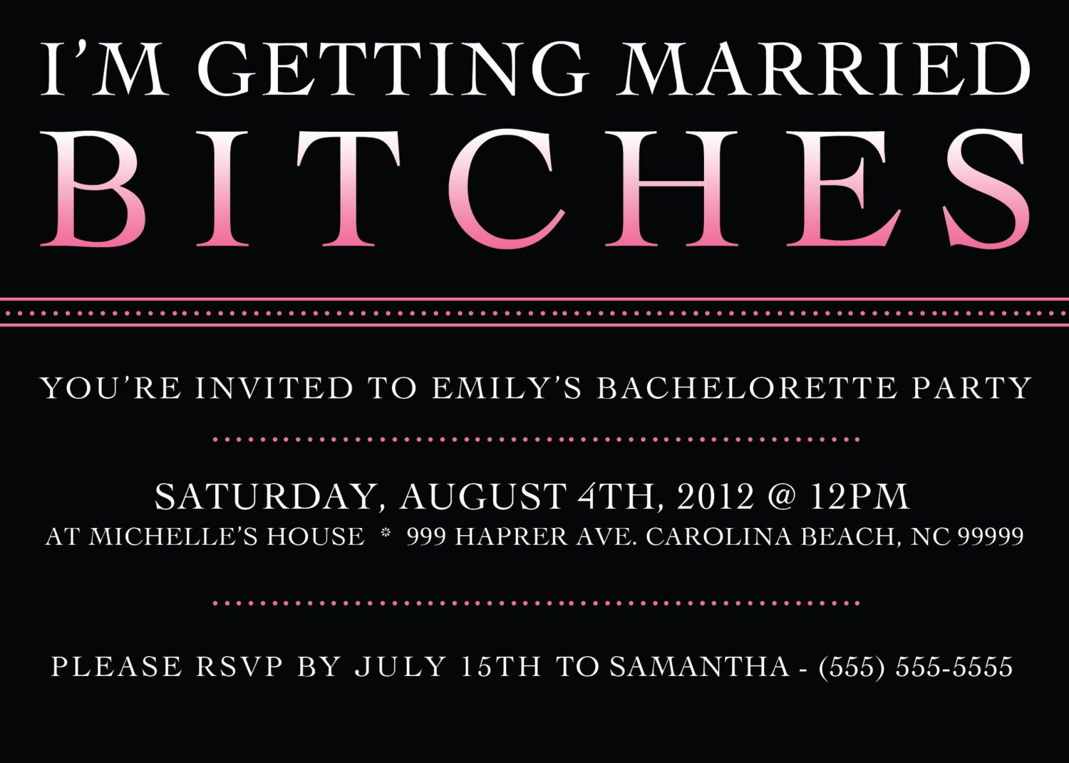 free printable bachelorette party invitations 1500 x 1071 - Printable Bachelorette Party Invitations