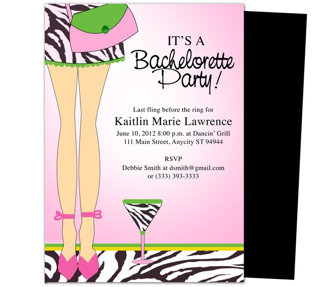 bachelorette party printable templates free, Party invitations