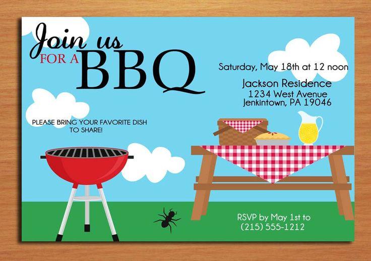 Free Printable Barbecue Invitation Templates