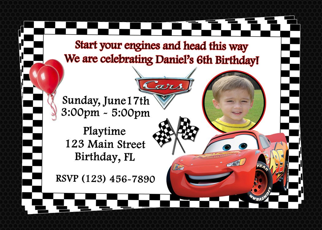 Free Printable Birthday Invitations Cars Disney