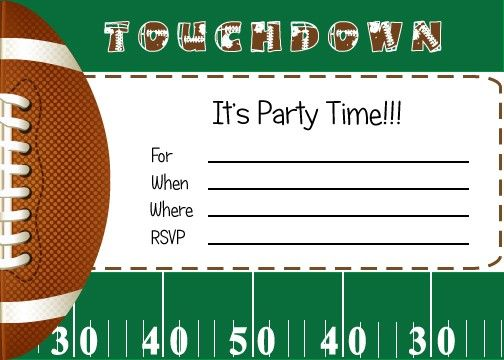 Free Printable Birthday Invitations Football Theme