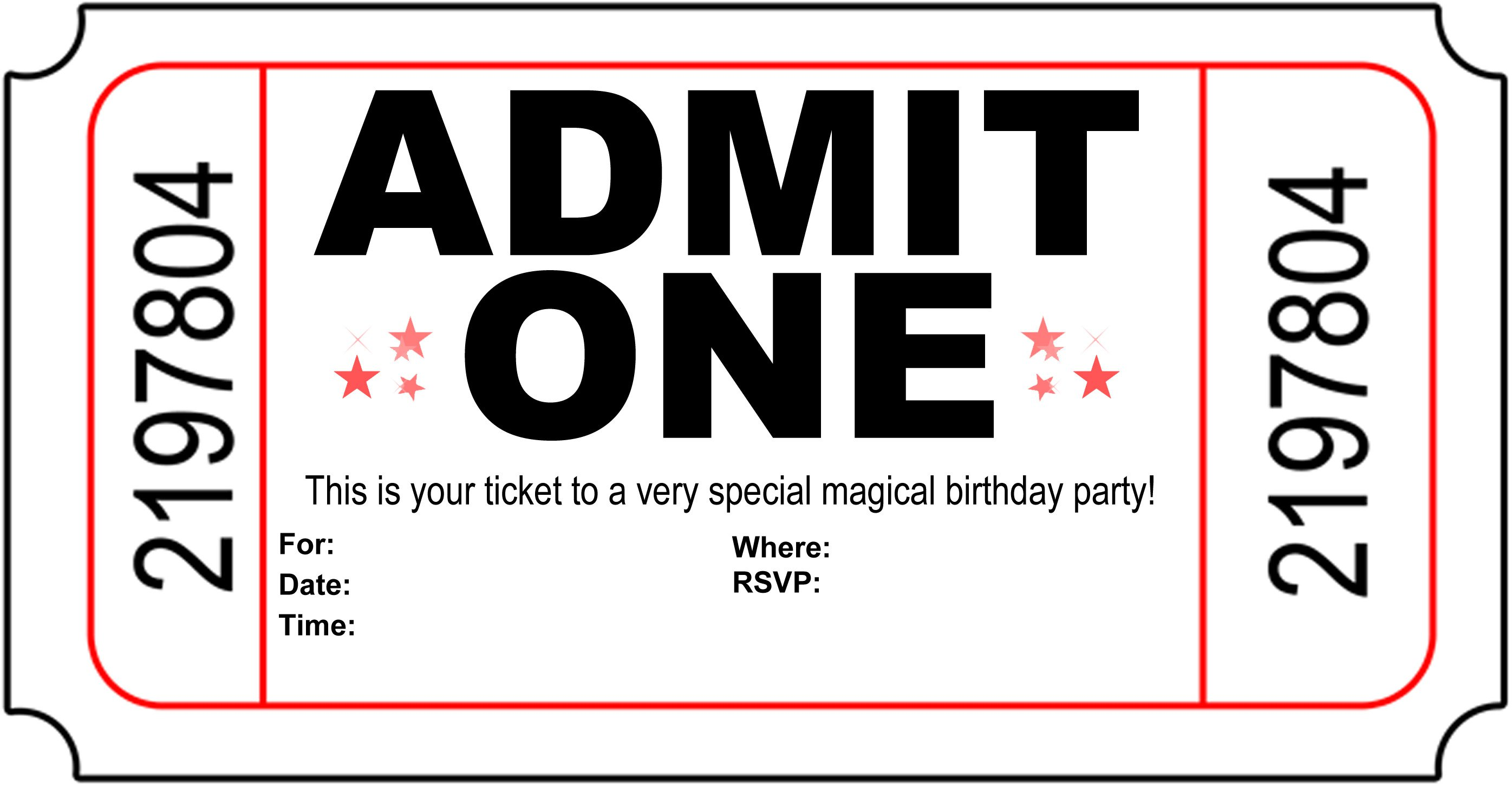 Free Printable Birthday Invitations For Girls Black And White