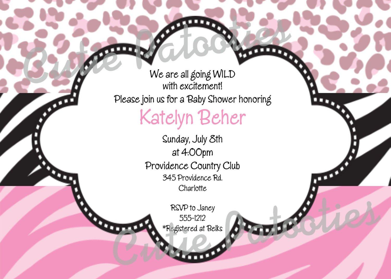 Free Printable Birthday Invitations For Girls Zebra Print