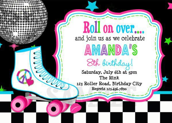 Free Printable Birthday Invitations Roller Skating