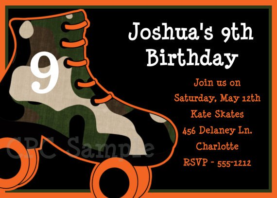 Free Printable Birthday Invitations Roller Skating Party