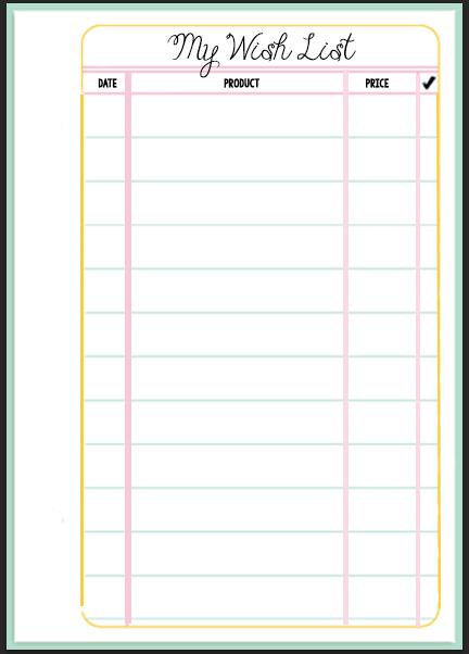 Free Printable Birthday Wish List
