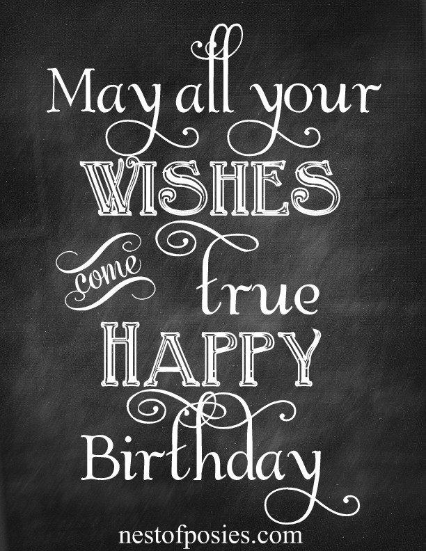 Free Printable Birthday Wishes