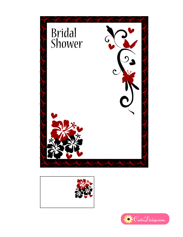 Black And White Bridal Shower Invitations Printable Free - Black and white bridal shower invitation templates