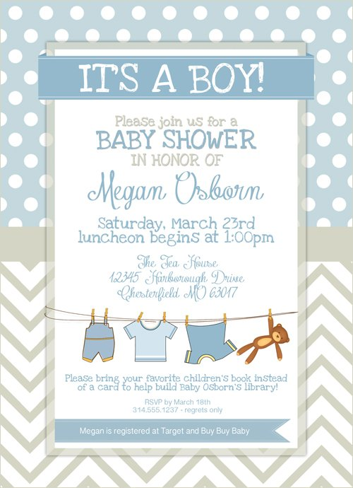 Free Printable Blank Baby Shower Invitations Templates