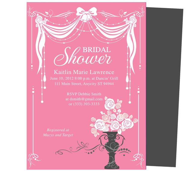 Good Invitation Design Blog For Free Bridal Shower Invitation Templates For Word