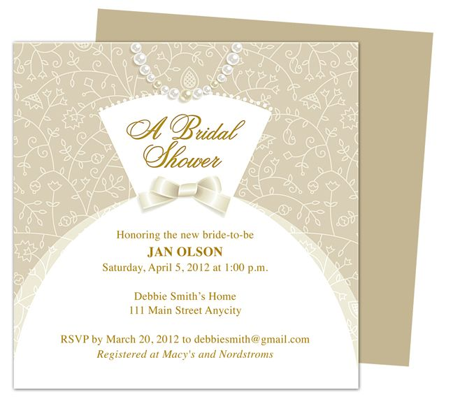 Free Printable Bridal Shower Invitation Templates For Word