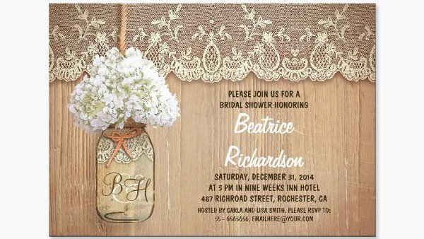 Free Printable Bridal Shower Invitations Rustic