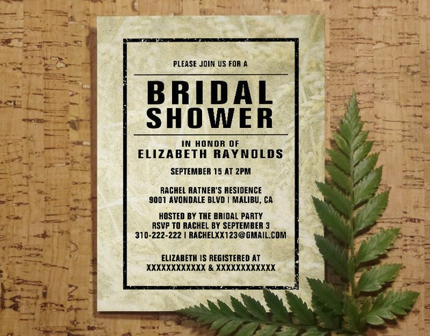 Free Printable Bridal Shower Invitations Western