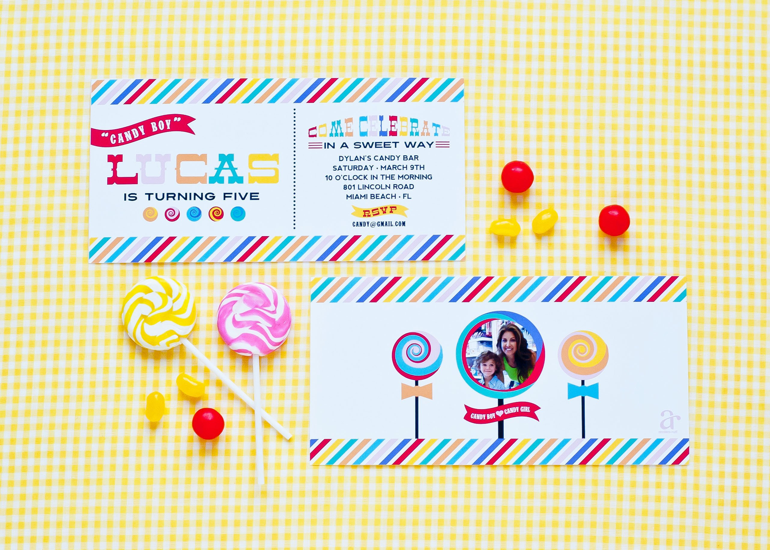 Free Printable Candy Themed Party Invitations