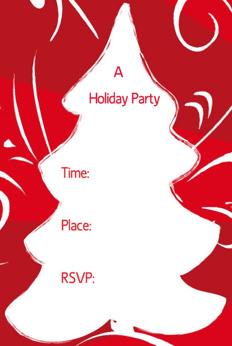 Free Printable Christmas Invitation Cards