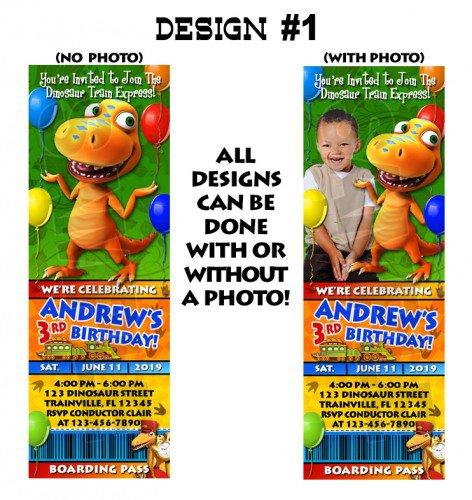 Free Printable Dinosaur Train Birthday Invitations