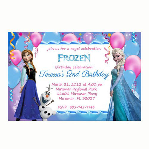 Frozen Birthday Party Invitations Free Printable