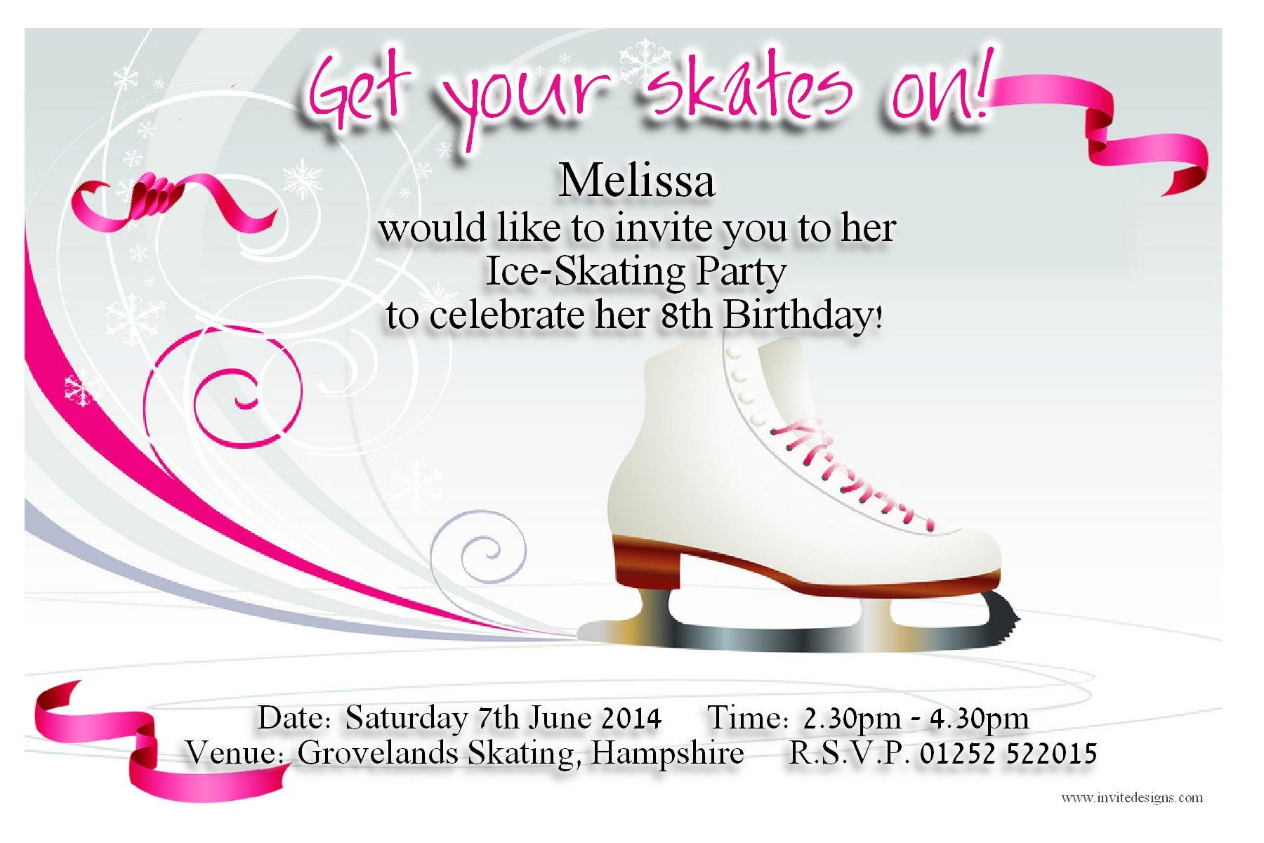 Free Printable Ice Skating Invitations