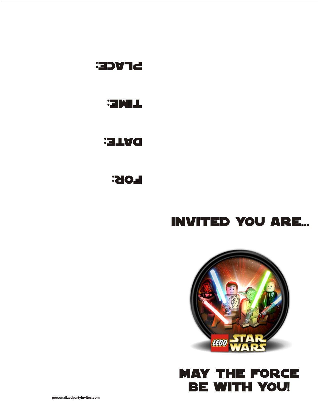 Free Printable Invitations Lego Star Wars