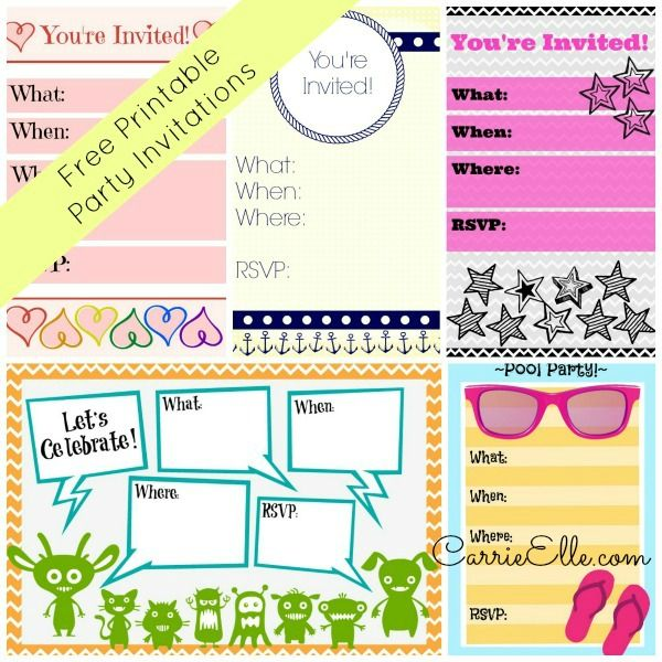 Free Printable Invitations Without Downloading