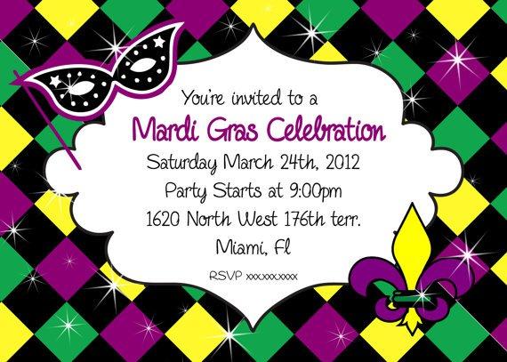 Free Printable Mardi Gras Party Invitations