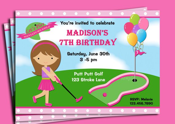 Mini Golf Party Invitations Printable – Golf Party Invites