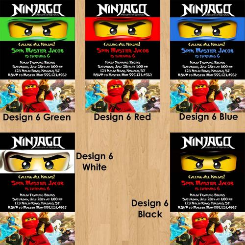 Free Printable Ninjago Birthday Invitations – Ninjago Party Invitations