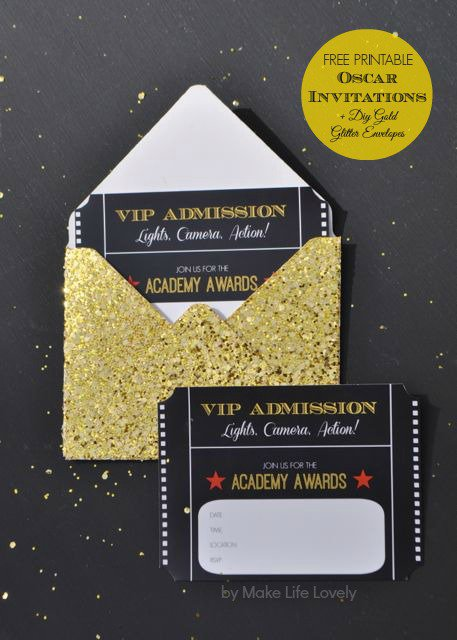 Free Printable Oscar Party Invitations