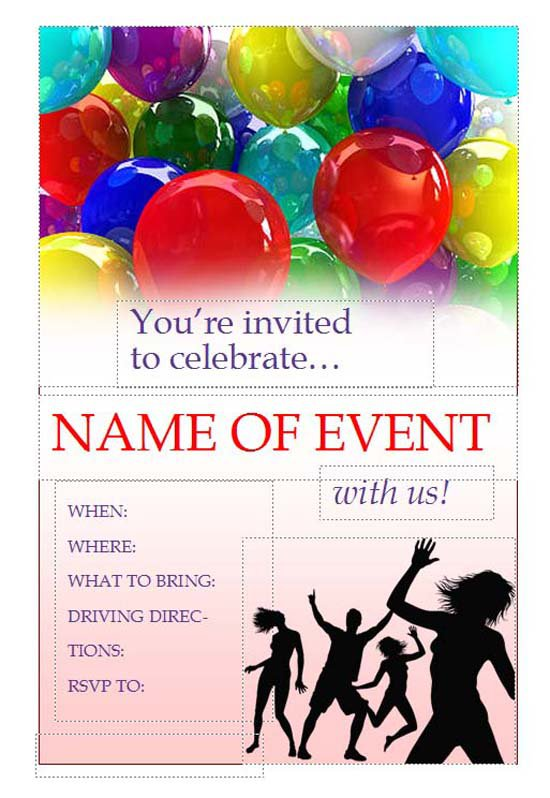 Free Printable Party Flyers Online