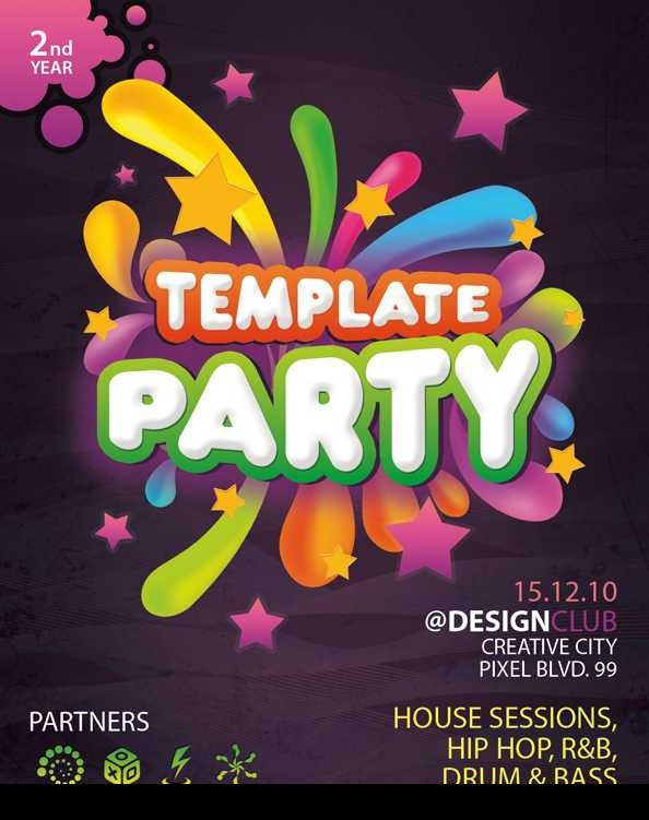 Free Printable Party Flyers Templates