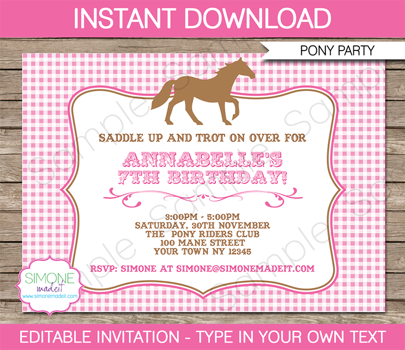 Free Printable Party Invitation Templates Mac