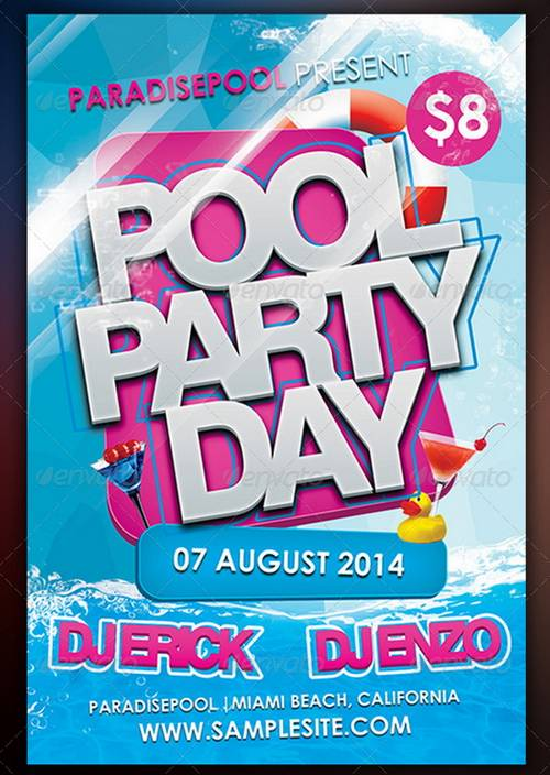 Free Printable Pool Party Flyers