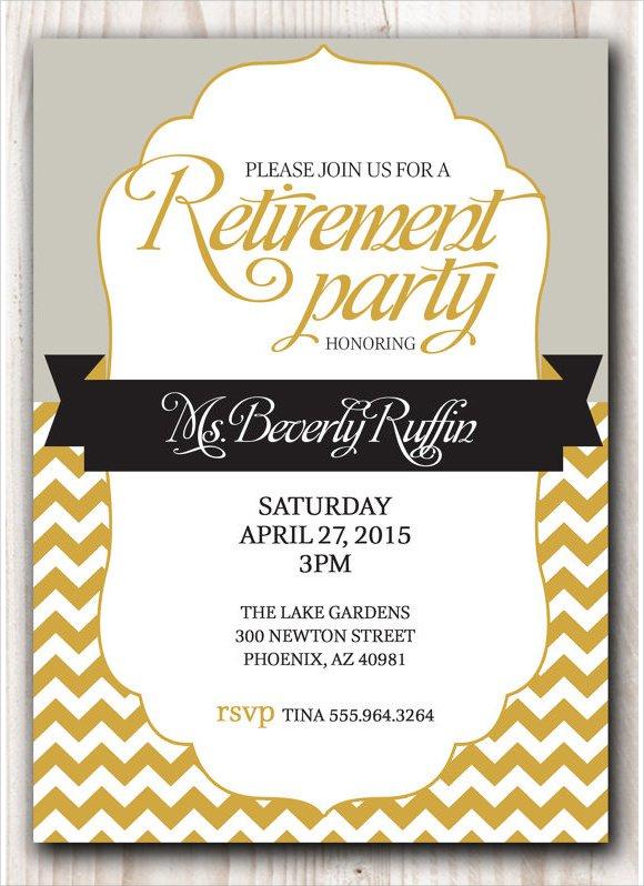 Free Printable Retirement Invitations For Teachers
