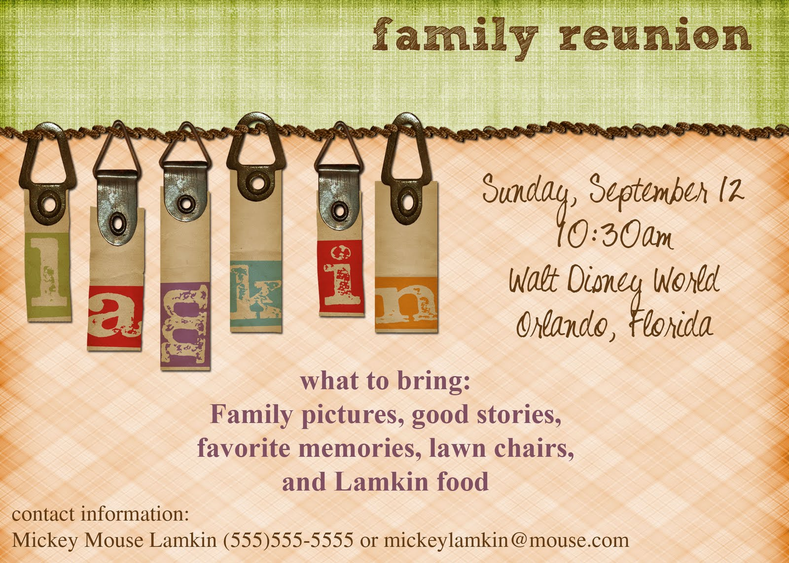 Free Printable Reunion Invitations