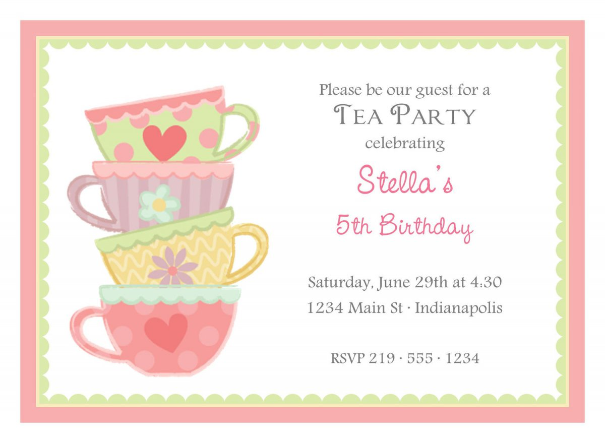 Free Printable Tea Party Invitations Templates
