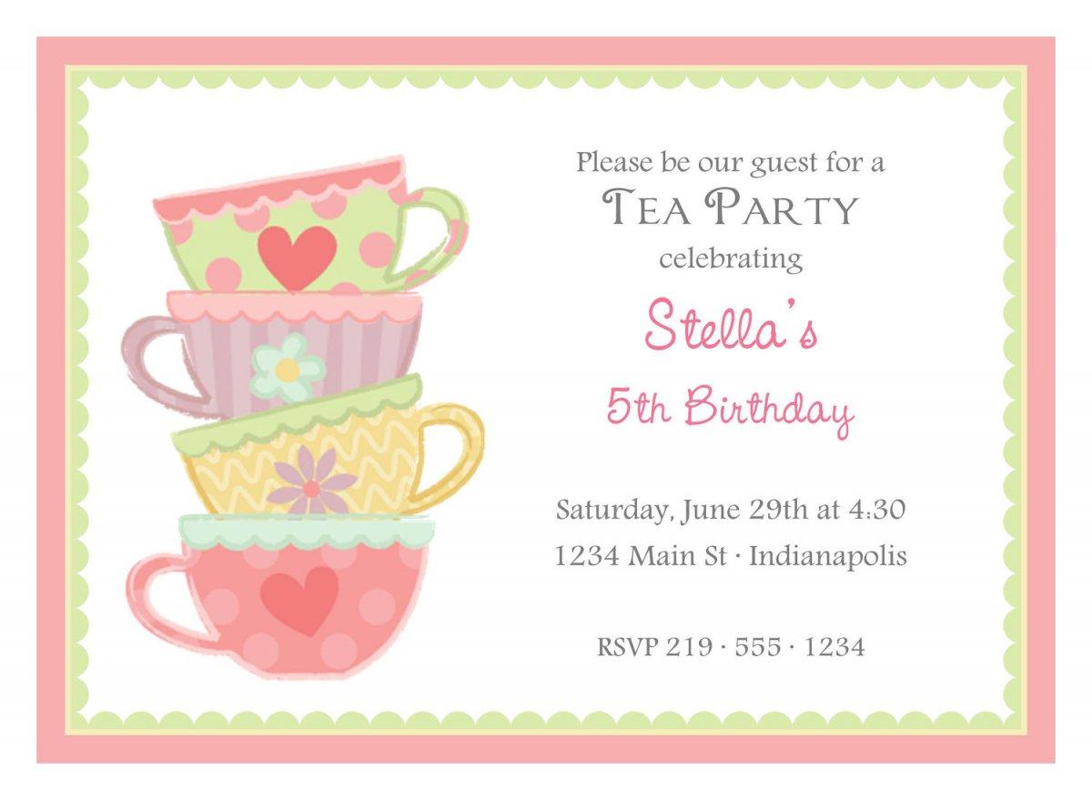 Free Printable Tea Party Invitations Templates
