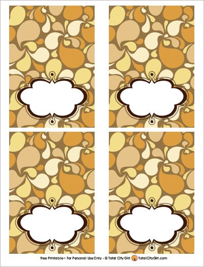 Free Printable Thanksgiving Dinner Place Cards
