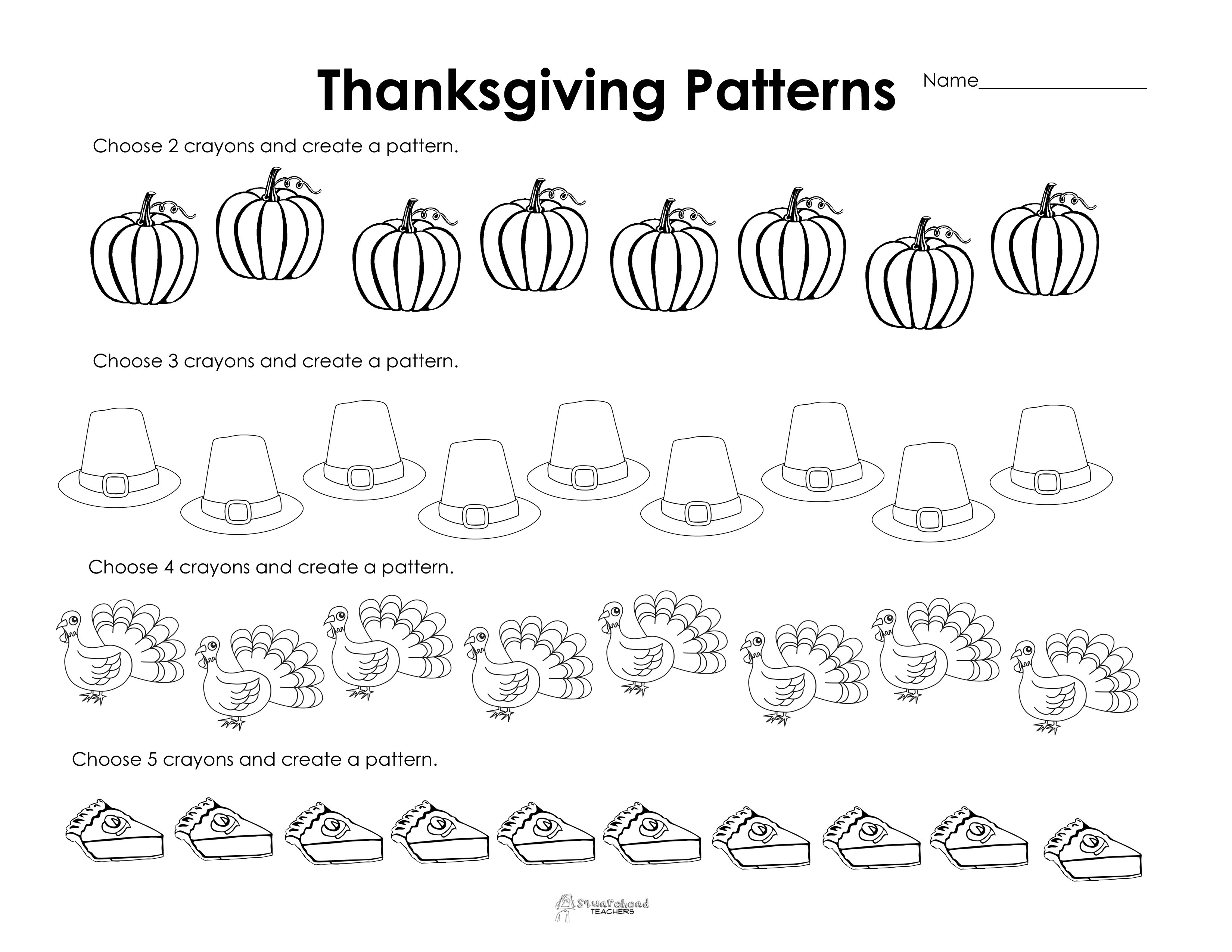 Free Printable Thanksgiving Worksheets For Second Grade
