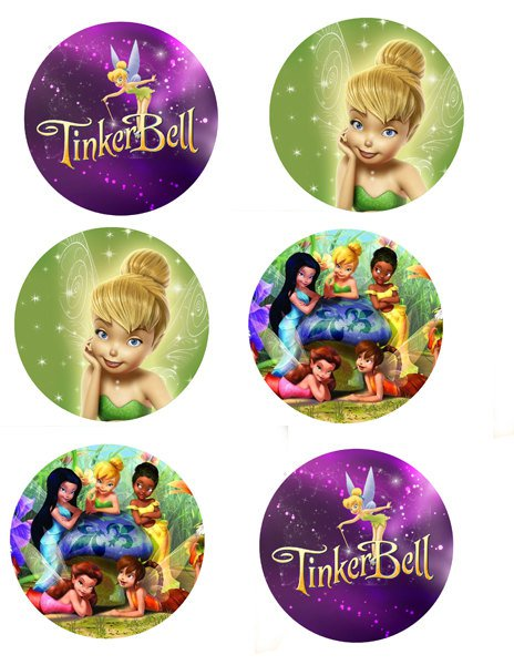 Free Printable Tinkerbell Cupcake Toppers