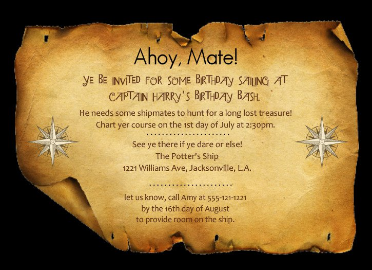 Free Printable Treasure Map Invitations
